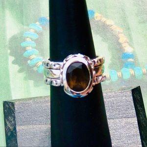 Silpada Smoky Quartz Stack Ring Set